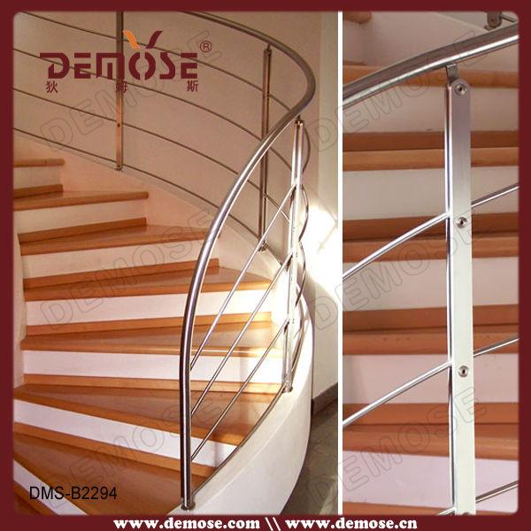 guangdong pasamanos interiores curvada escalera barandilla acero inoxidable curvado pasamanos
