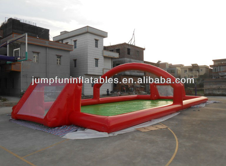popular inflatable football games field,inflatable water football,air sealed type inflatable soccer footbal pitch