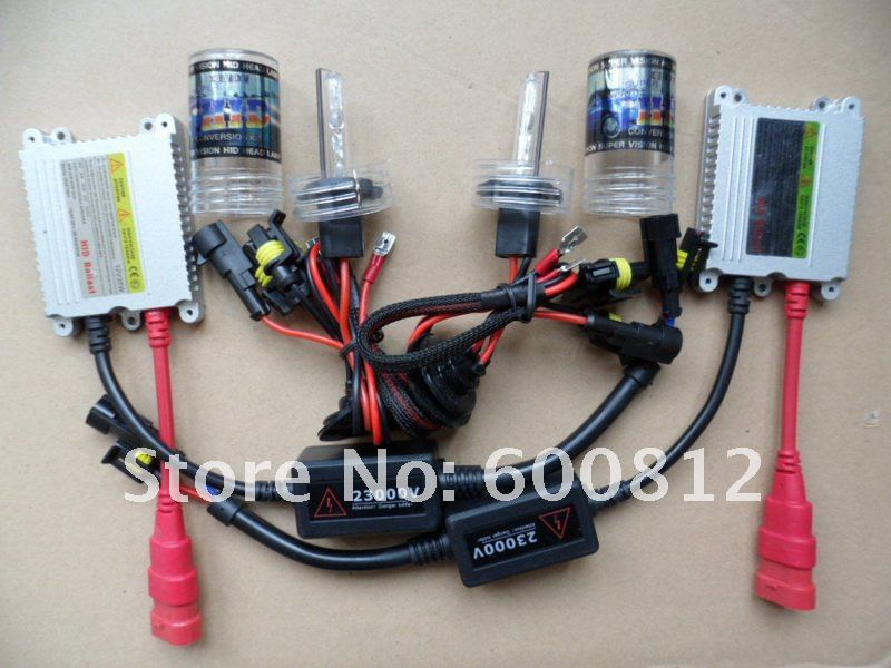 Auto HID Kit XENON HID CONVERSION Kit 12v 35W H8 8000K HID Xenon Kit lamp HID Bulb Slim hid ballast hid light vehicles ACEA NO.