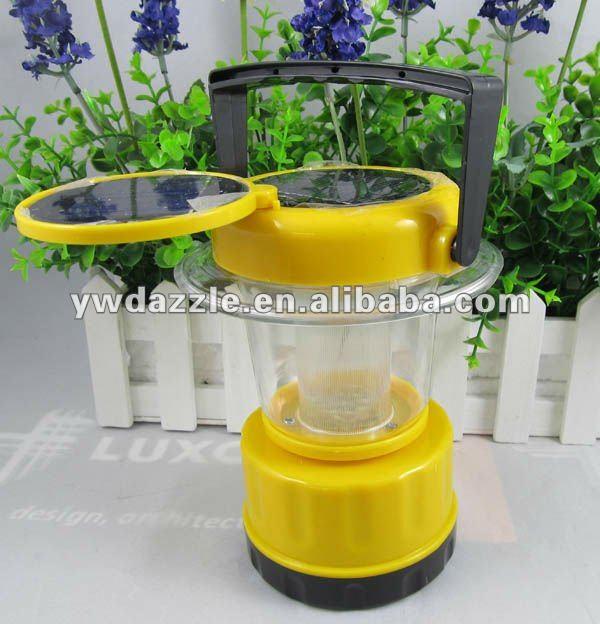 Mini LED solar rechargeable lantern with foldable Solar Panels