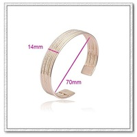 (BA18K-12) Copper with 18k gold plated bangle, Free shipping