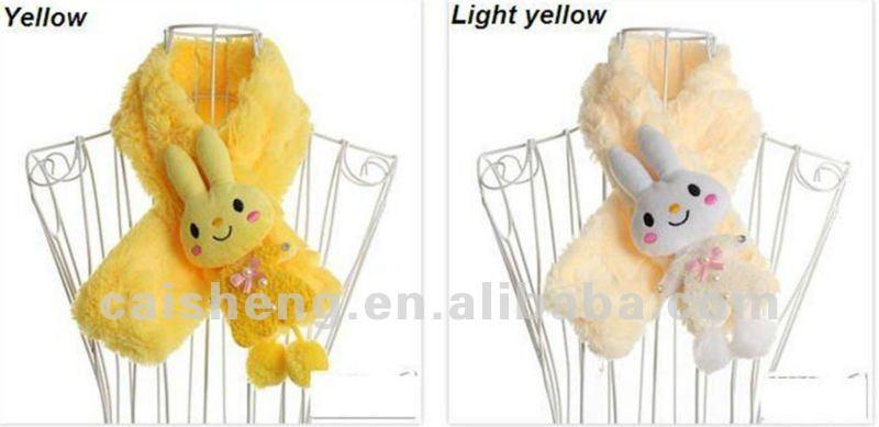 plush animal rabbit scarf