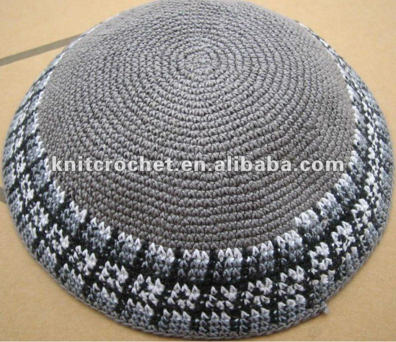 Crochet Yarmulke Patterns : Crocheted Kippah Kippot,Jewish Kippahs,Leather Kippah - Buy Crochet ...