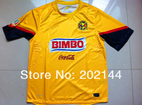 Спортивная майка Hot sell 12-13 MEXICO Club America home yellow player version best thai quality soccer football jersey, America soccer jersey