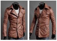 Мужские изделия из кожи и замши 2013Classic Men's PU Leather Coat 3 Colors 4 Sizes shopping, leather jacket, fashion jacket, racing jacket, leather sport suit