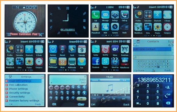 1.8 Inch WI1 Watch phone Quadband Touch Screen MP3 MP4 Camera Flash light Mobile phone Mobile wI1 I3 I5 I6 I8