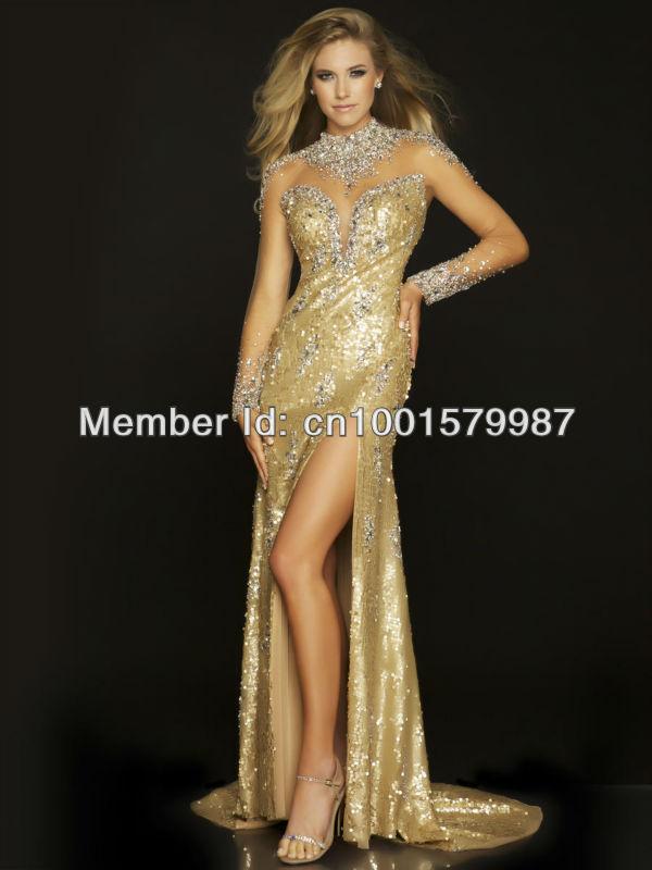 wz1198 wz1198  1  Beautiful Gold Prom Dresses 2013