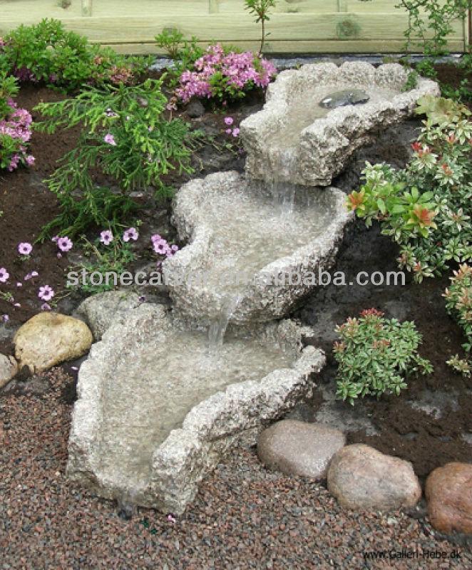 mini jardim oriental: mó em camadas granito fonte do jardim para a decoração ao ar livre