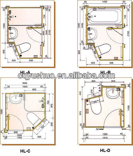 Cabine sanitaire pr fabriqu e m canisme chasse d 39 eau wc for Cabine de salle de bain prefabriquee