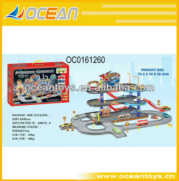 2013 hot sale carton car parking lot ,car play set ,railway car OC0161260