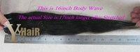 Волнистая прядь волос YY Hair 3pks/12 /30 DHL #1B Body Wave