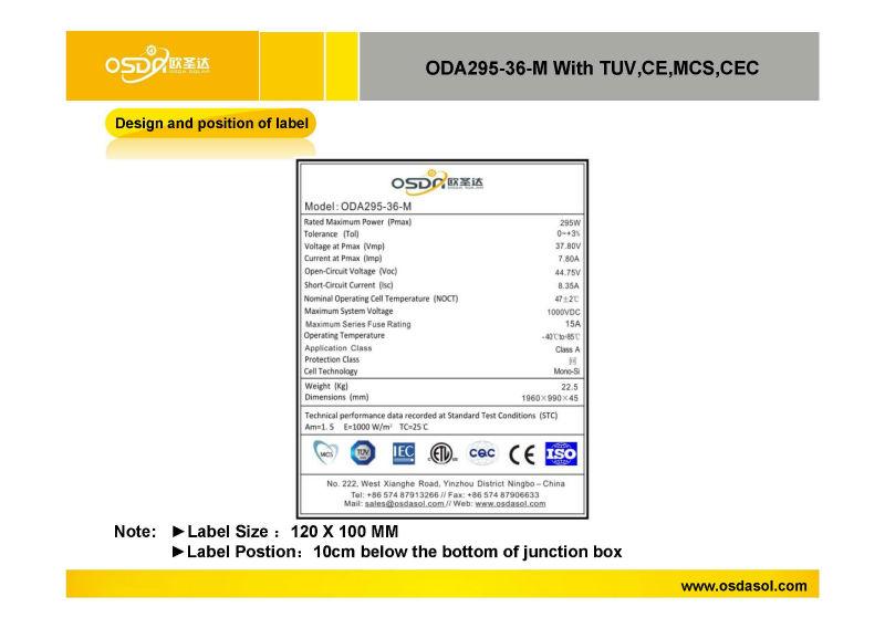 295w lowest price solar panel popular in india