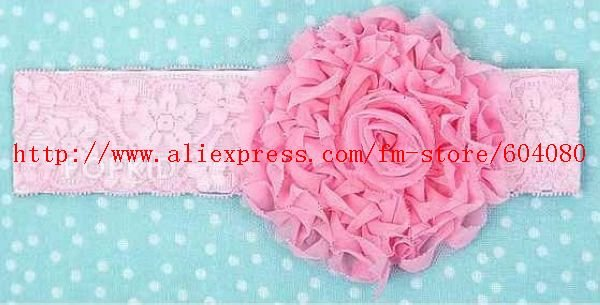 Baby Headband,Rose Silk Flower Pattern Baby Hairband,Children Lace Hair Bows,Kid's Flower Headbands,Baby Hair Accessories
