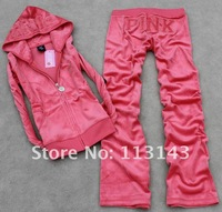 Женские толстовки и Кофты Women's Clothing Tracksuits Suits sportswear Trak Suit jogging Suit pink.) Size:S-XL