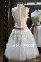Платье на студенческий бал Ready To Ship Long 2 color white yellow in store lace Formal prom Dress short Under $60