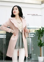 Женская куртка 2011 NEW, Bow, double breasted, sweet gentle women ladies winter coat