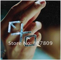 Wholesale fashion 5pcs EXO crystal ring for free shipping