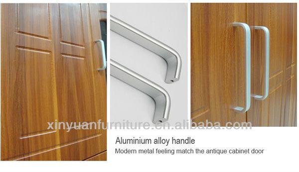 K814 tapa de mármol del gabinete de cocina de aluminio con puerta ...