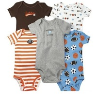 Детский комбинезон Hot selling Baby rompers 100% cotton shortsleeves bodysuits infant baby boy girl unisex jumpsuits 6 size 5pcs/lot