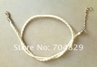 Free shipping&wholesale fashion hottest 50pcs white leather fashion necklace cords w lobster approx 43cm, & Free shipping  C08