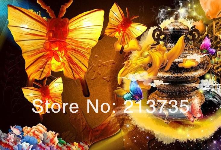 Купить Бесплатная доставка бабочка бра океан огнезащитной ткани, много цветов 400 мм, лампа ткань