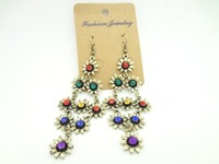 Серьги-кольца 1pair /lot sunflower Vintage Earrings, fashion antique earrings
