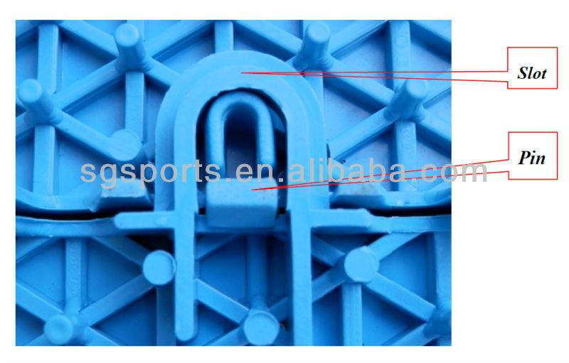 pp interlocking sports flooring tile for basketball court use 1015