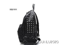 skull Backpack Bag Designer New Crossbone Large Design Gothic Corss Daypack Black 0514 free shippig New arrival