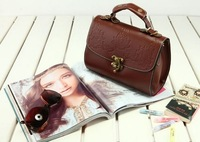 Сумка через плечо 2013 Elegance Faux PU Leather Hangbags Ladies' Shoulder Bags Hoboes Messenger Purses Brown BH1024