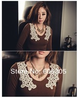 Women's dress fashion New lace dress black red brown 3 colors free shipping 996