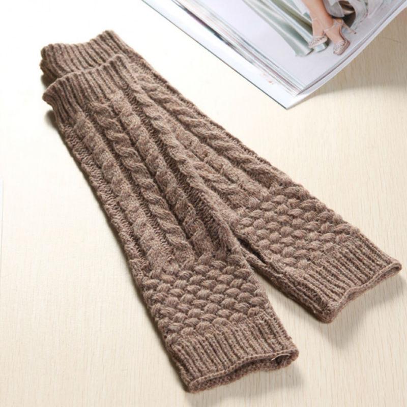 Winter wool jacquard knit mitten