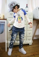 Джинсы для мальчиков high quality autumn children's Jeans, boy's star-star Jeans, classic fashion children denim Jeans, 10 pcs/lot