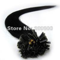"""Волосы для наращивания Mumaren 100% 100S #01/jet 16""""/18"""" /20""""/22"""" /26 u remy"""