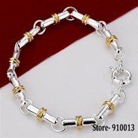 Free Shipping Wholesale Silver Plated Fine cute stick jewelry Bracelet LQ-H100