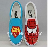 Женские кеды fashion Original hand drawing Superman&Spider-Man Canvas shoes, Lovers shoes, casual shoes, GS_A302