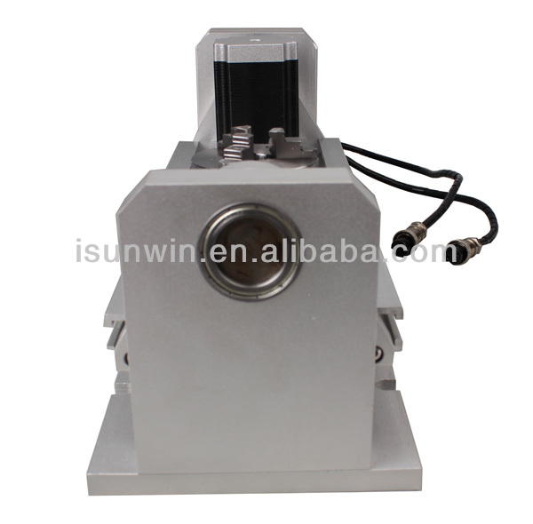 3-Jaw Chuck and 5 axis Stepper Motor Rotary Table for CNC Drilling/Milling/Engraving Machine