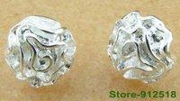 Серьги-гвоздики Clip drop hoop stud earring 925