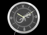 nc0414-б геккон ящерица дисплей д? кор-бар пива неоновый знак привело настенные часы