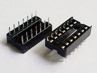 Электронные компоненты 100pcs Brand new IC Integrated Circuit 16 Pin DIP IC Sockets Adaptor Contact Type Dual Wipe Contact