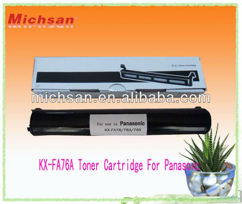 2013 Popular Products KX-FA76A Toner Cartridge For Panasoic Printer