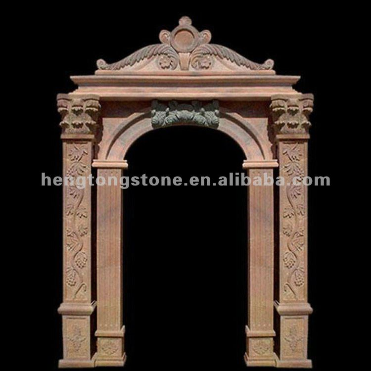 White Marble Arch Door Frame With Figure Design View Marble Arch Door Frame Hengtong Stone