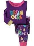 Пижама 6sets/lot Cheap Children's Clothing, girls cotton pajamas with printed cartoon, kids sleepwear wrc26