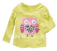 Футболка для девочки 6pcs/lotNew Autumn jumping beans T-shirts hot girls shirt, fashion and comfortable shirt owl LK-29