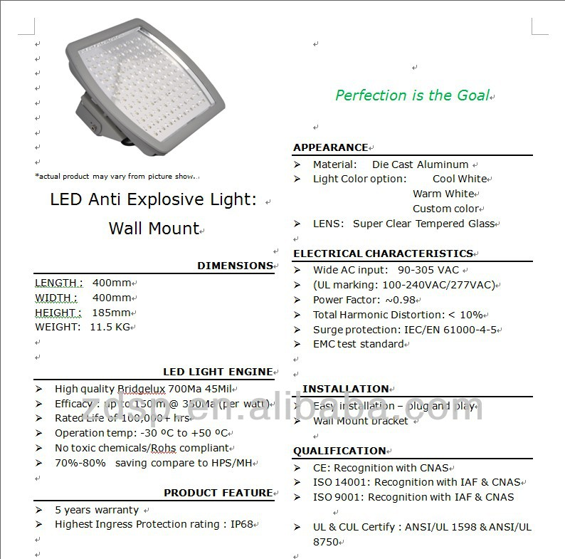 Anti-explosive LED Canopy Light 100~120W-1