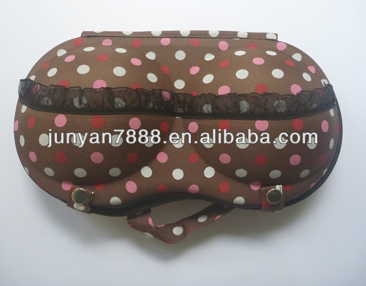2014 imported bra bag/bra shape fashion pop bra bag/underwear molds with lace cover