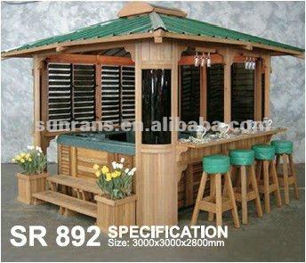 Spa gazebo en bois couvert belv d re id de produit for Spa exterieur couvert