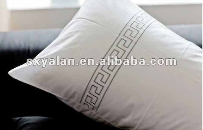 blanc broderie taie d 39 oreiller pour h tels taie d 39 oreiller de luxe pour h tels h tel blanc. Black Bedroom Furniture Sets. Home Design Ideas