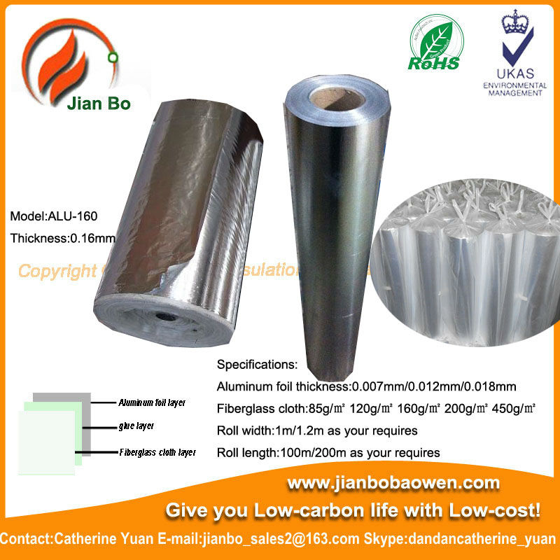 Aluminum foil fireproof woven cloth for packaging material adhesive cloth
