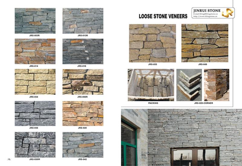 Murs d coratif empil s placage mur de pierre ardoise id de for Placage pierre exterieur