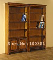 Деревянный шкаф clasic wood bookcase with two doors